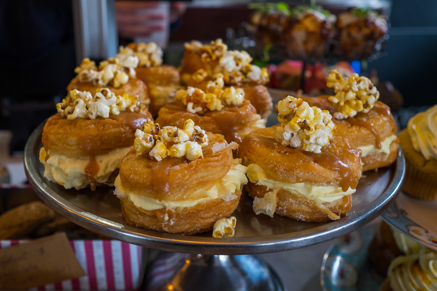 Salted caramel cronuts at the front counter