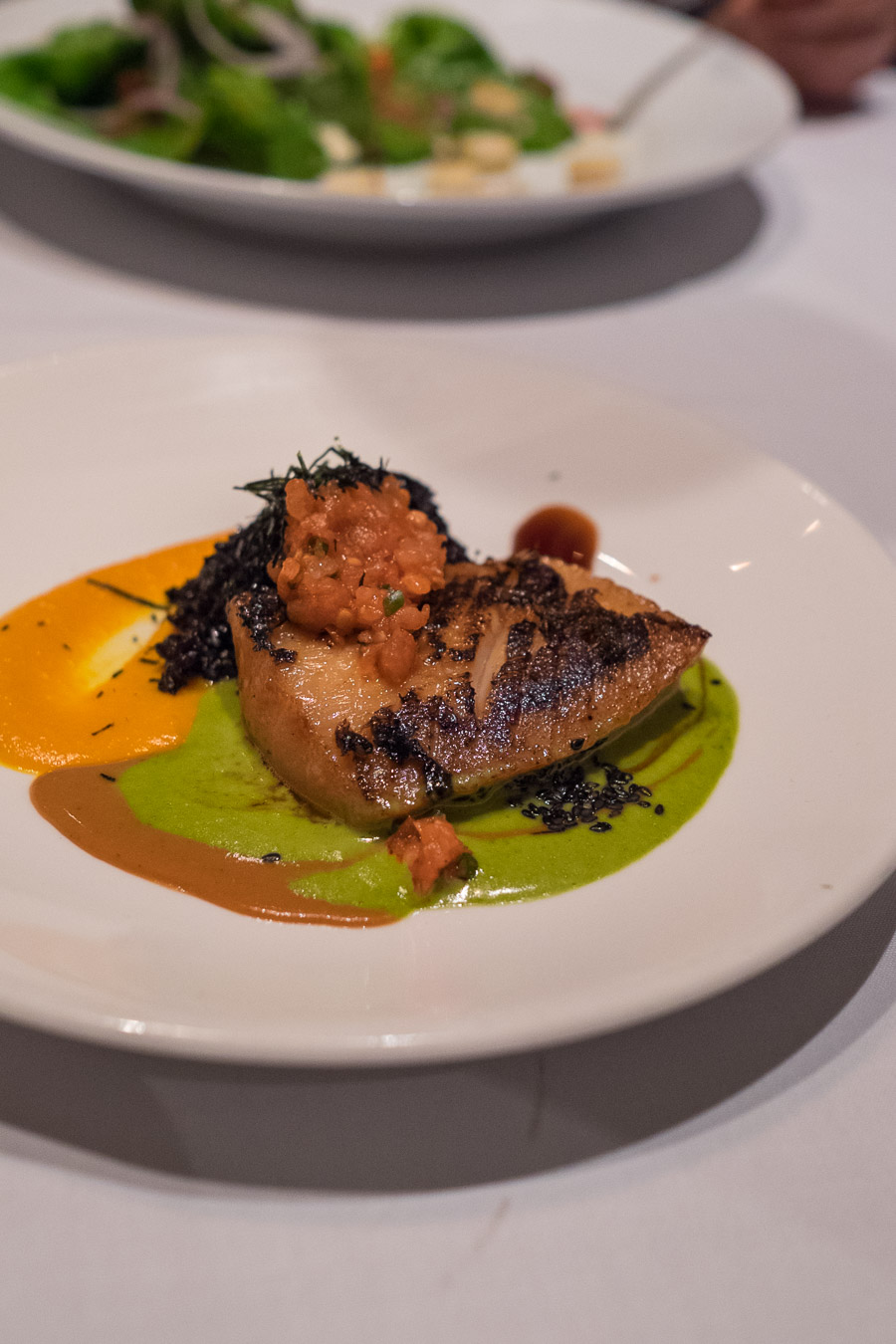 Misoyaki butterfish with sweet ginger wasabi beurre blanc (US$21)