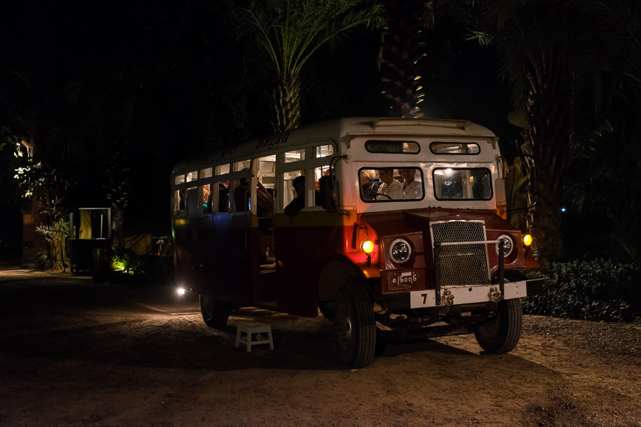 We were picked up in this vintage bus before sunrise.