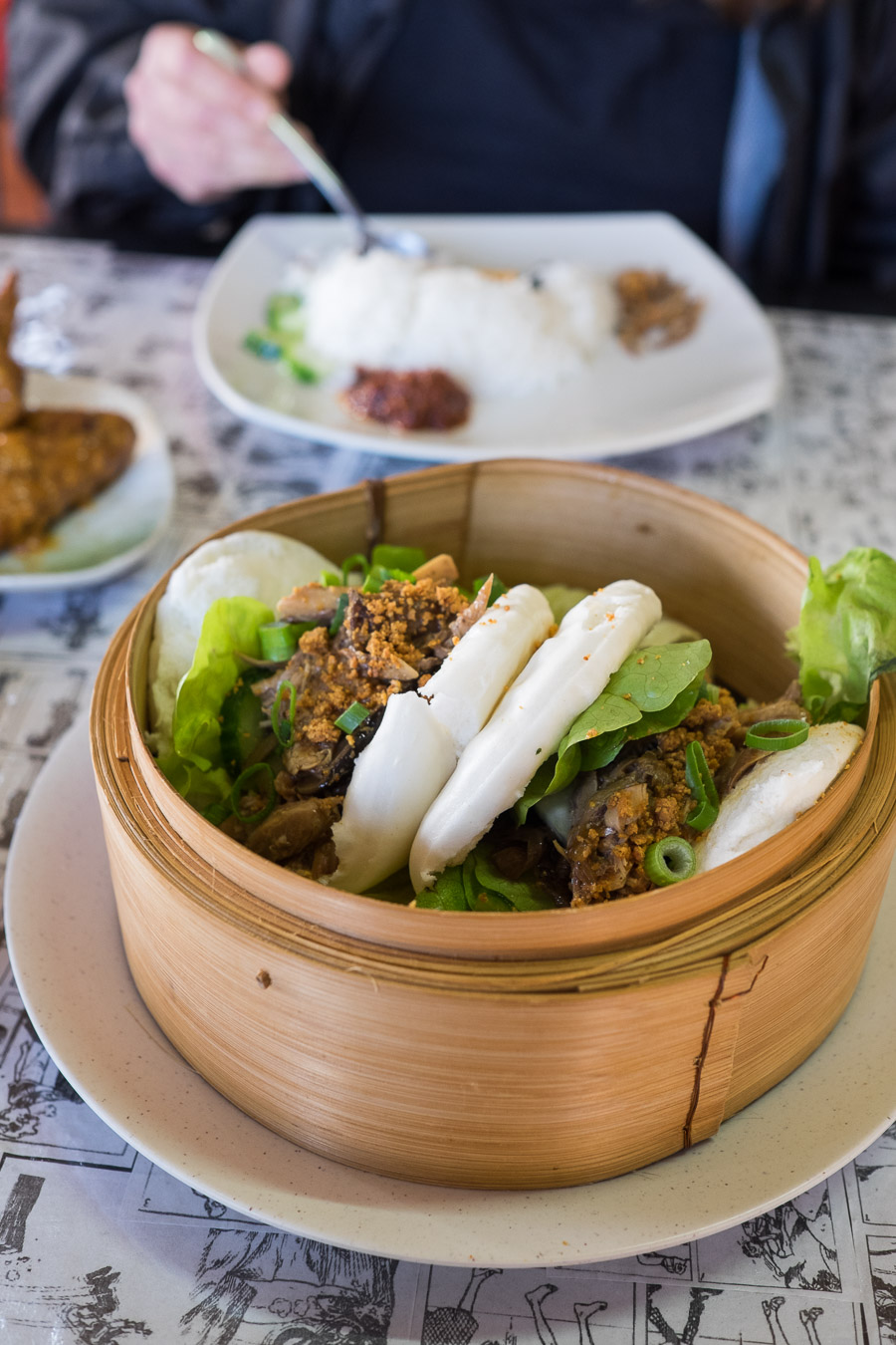 Duck gua bao (AU$5.50, 2 pcs)