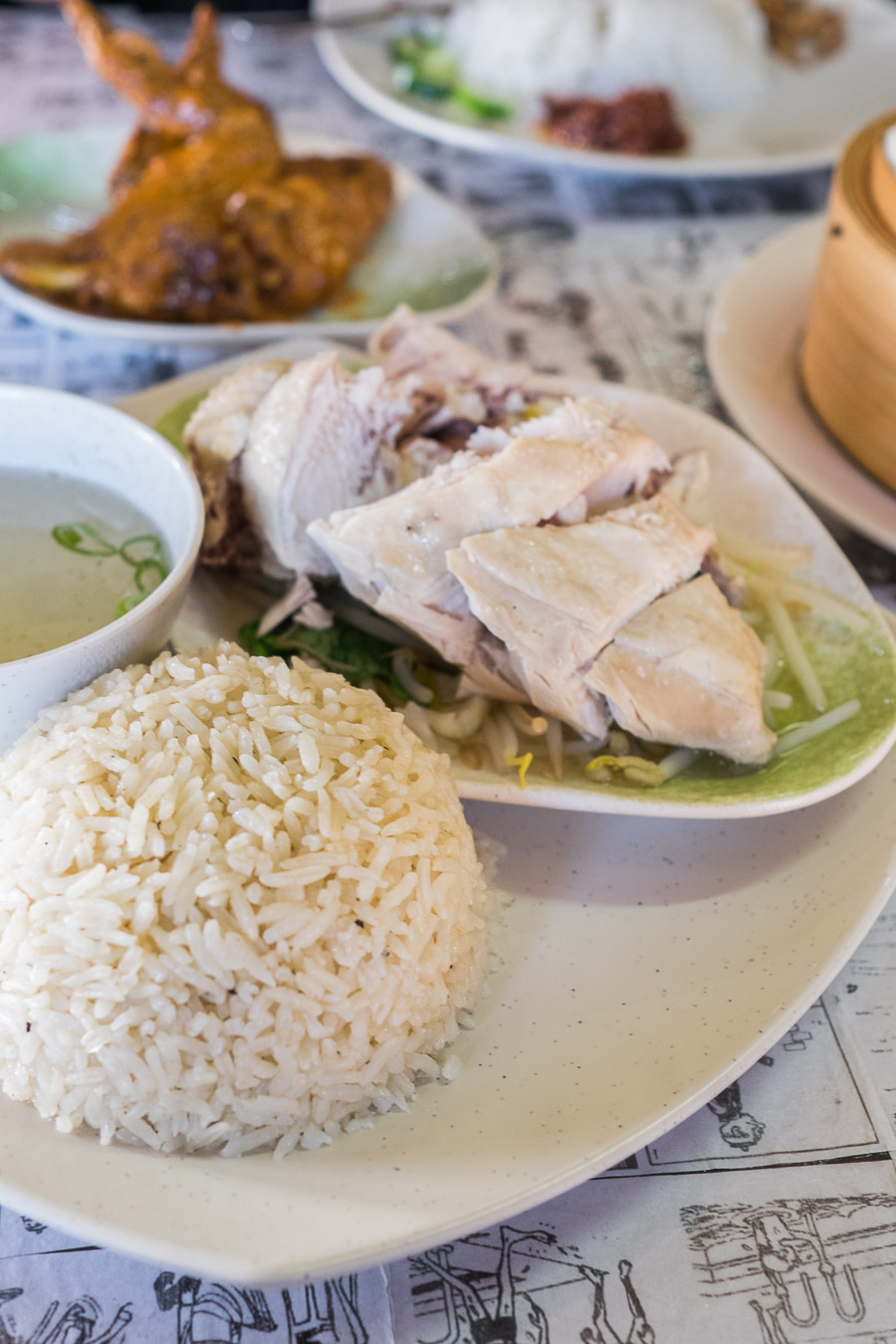 Hainanese chicken rice (AU$11.50)