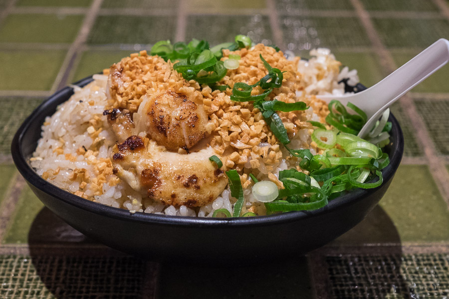 Garlic and scallop fried rice