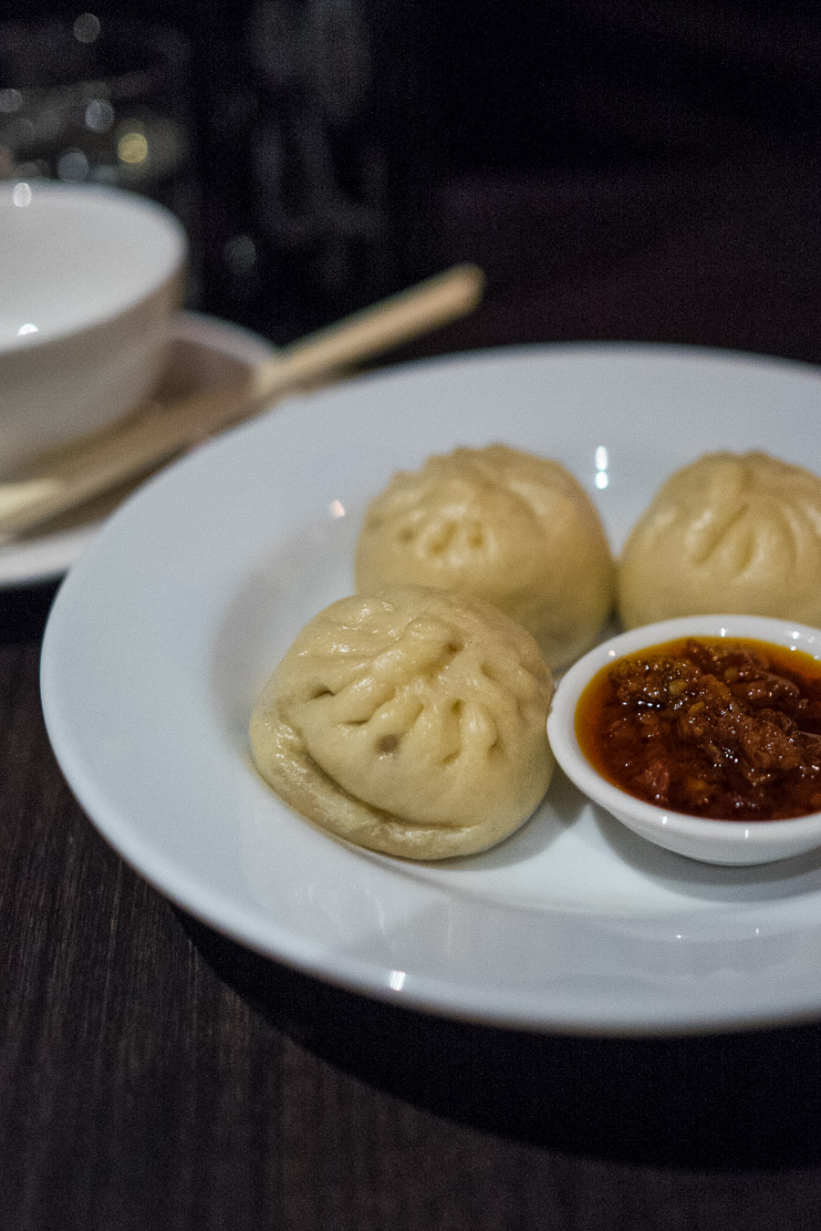 Mini pork buns with rooftop honey and house chilli sauce