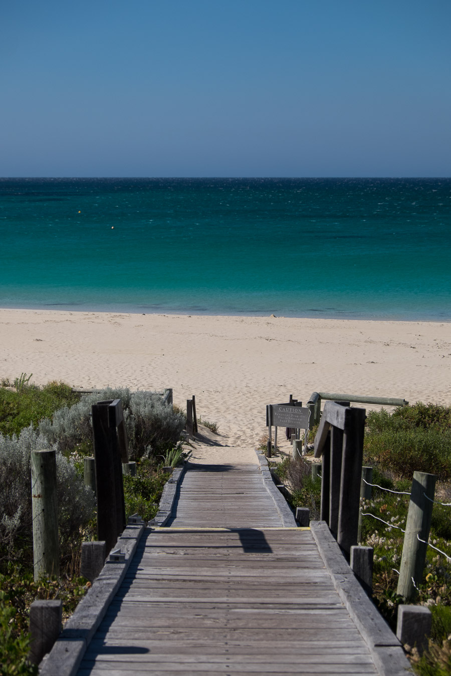 The deck to Bunker Bay beach