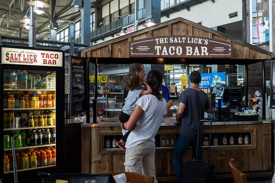 The Salt Lick's Taco Bar at Austin International Airport
