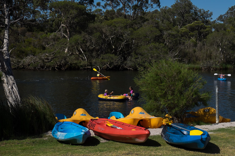 Like us, many others brought their own kayaks and stand-up paddle boards, but these can be hired from the caravan park office, as well as a dinghy, paddle boats and bicycles.