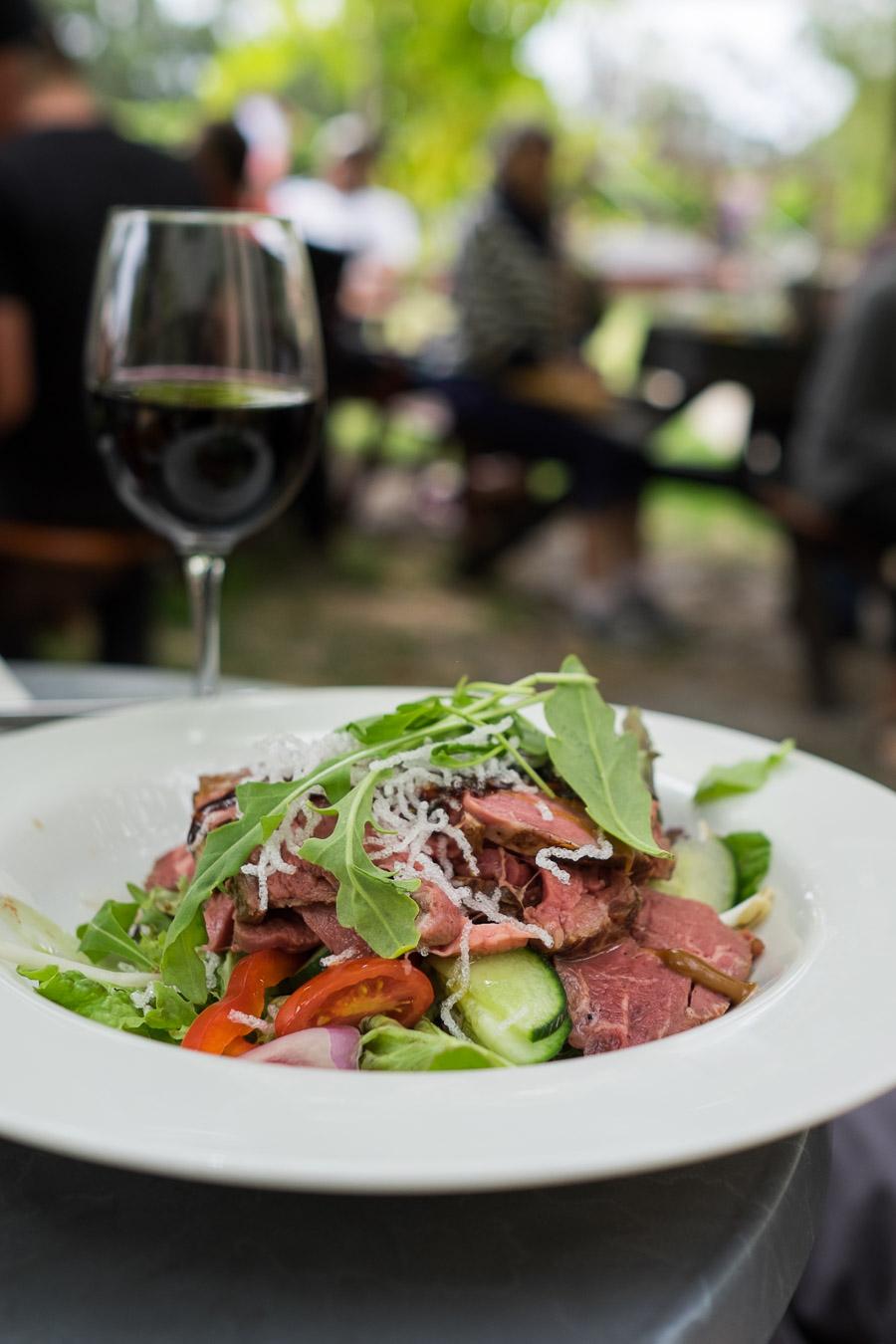 Teriyaki beef salad