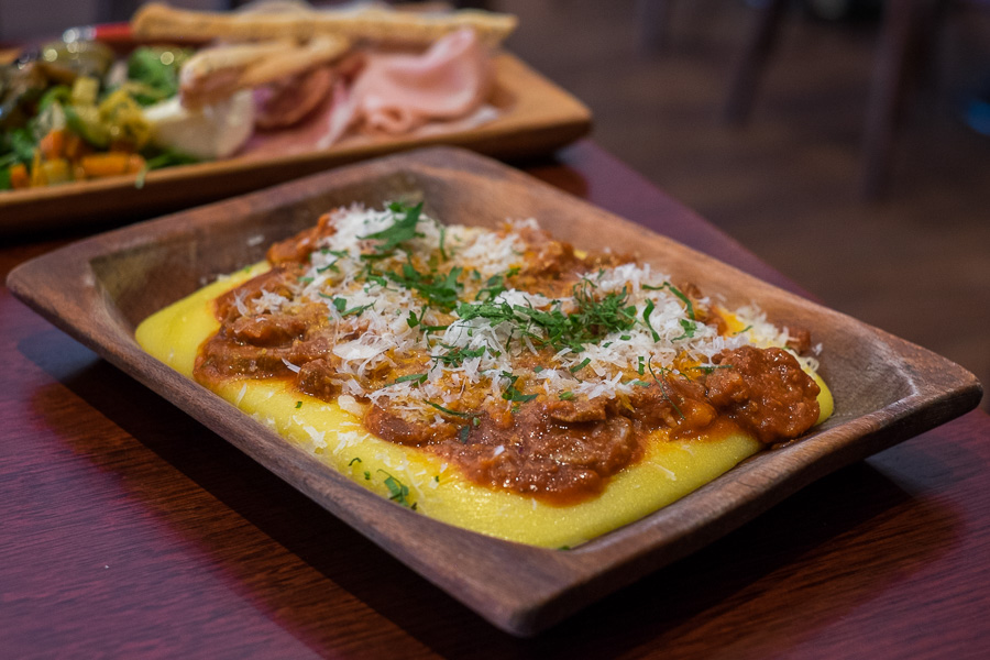 Sausage ragu with polenta