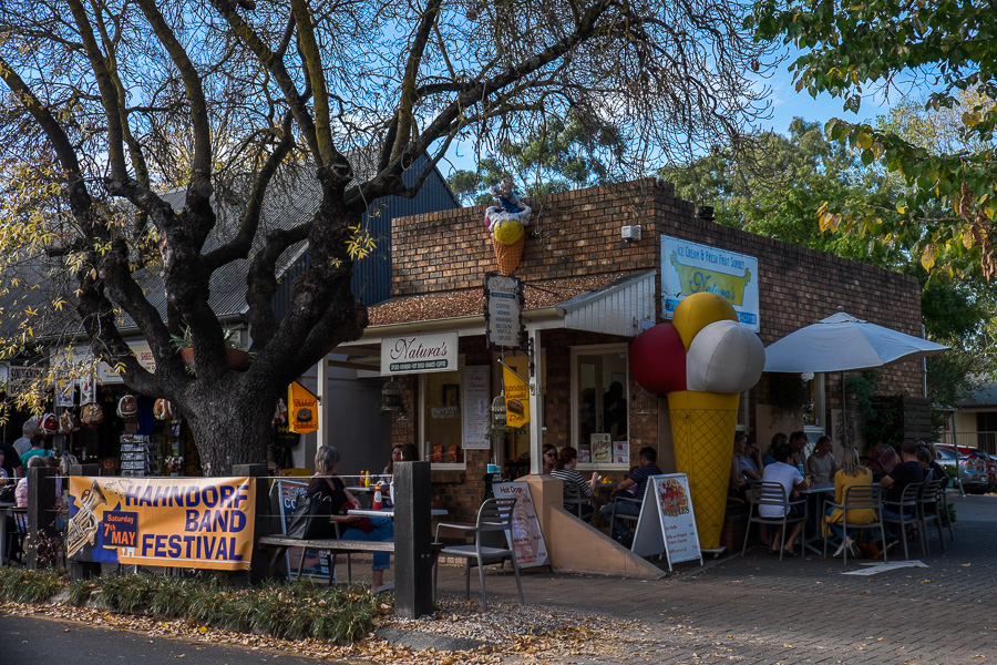 Just one of multiple ice cream places on Main Street, Hahndorf.