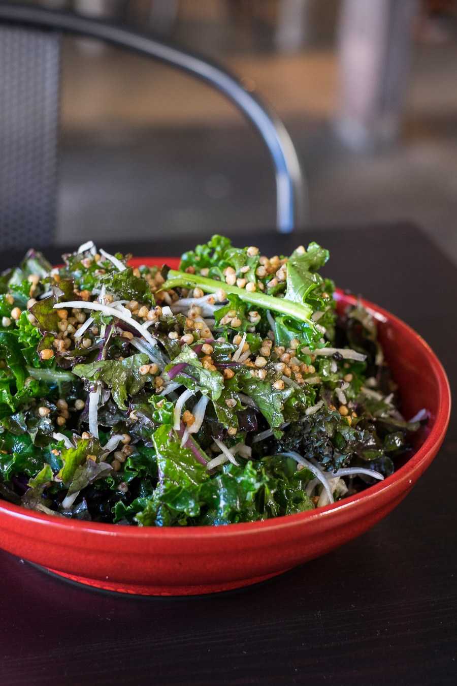 Baby kale salad, toasted buckwheat, Japanese turnip and vinaigrette (AU$12)