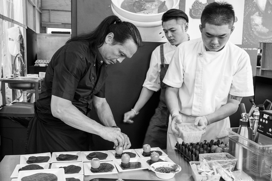 Chef Susur Lee at the pass