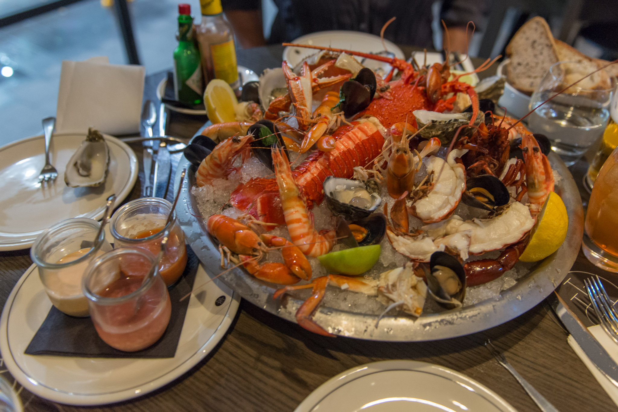 Seafood platter from Print Hall Bar