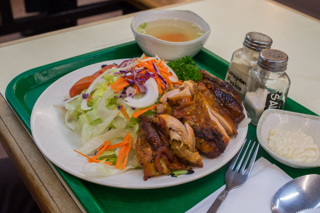 No.13: BBQ chicken and salad with dressing - from Chicks